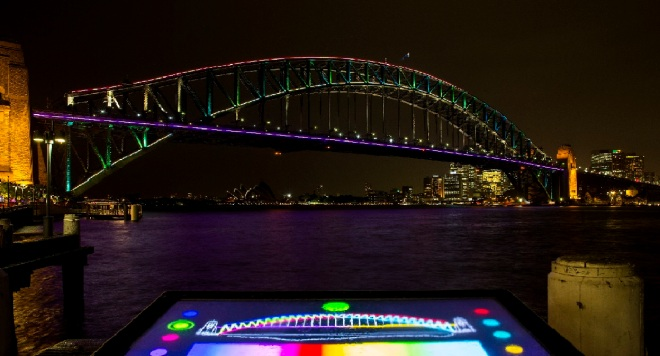 Preview Of Lighting The Sydney Harbour Bridge For Vivid Sydney 2013