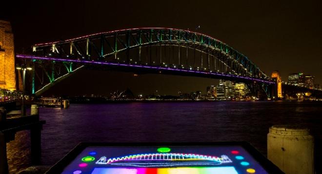 Preview Of Lighting The Sydney Harbour Bridge For Vivid Sydney 2013