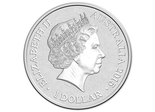 Obverse side of the 2015 $1 Coloured Fine Silver Frosted Uncirculated Sydney New Years Eve 2014 - 'Inspire' Coin Image: Royal Australian Mint