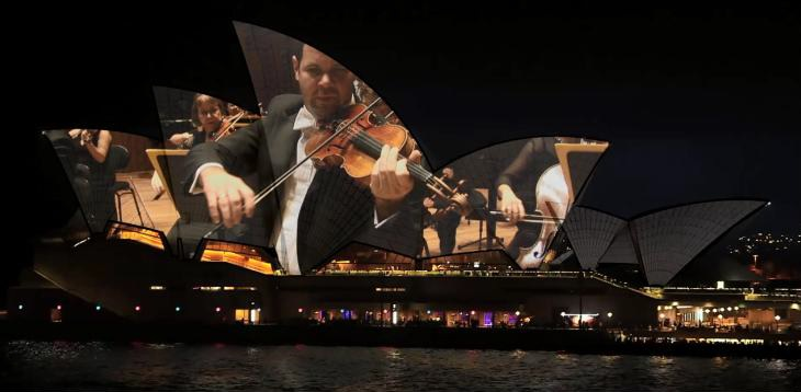 Sydney Symphony Orchestra Live Projection On TheSails