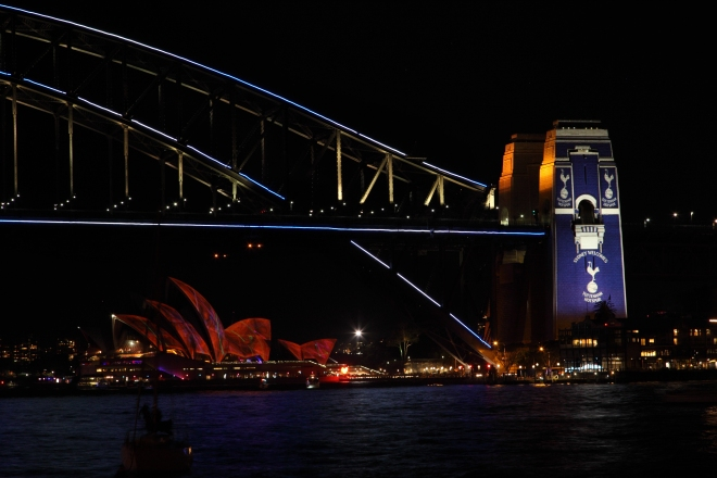 'Sydney Welcomes Tottenham Hotspur'  During Vivid Sydney 2015 Photograph: Eliot Cohen- Zeitgeist Photography
