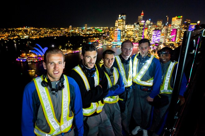 Tottenham Hotspur Players At The Summit Of The Sydney Harbour Bridge Photograph: Destination NSW