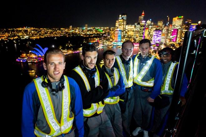 Tottenham Hotspur Players At The Summit Of The Sydney Harbour Bridge Photograph: Destination NSW