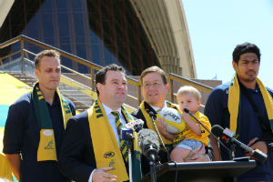 The Sydney Opera House will turn Green and Gold in support of the Wallabies. Photo: Andrew Frazer