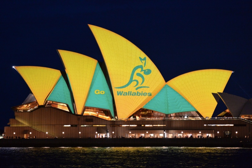 Sydney Opera House Lights Up ForWallabies