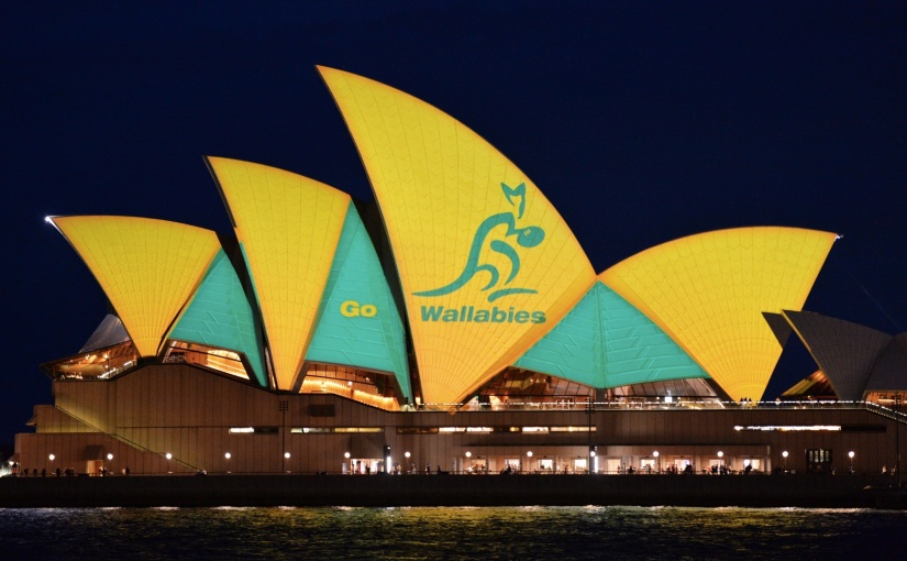 Sydney Opera House Lights Up For Wallabies