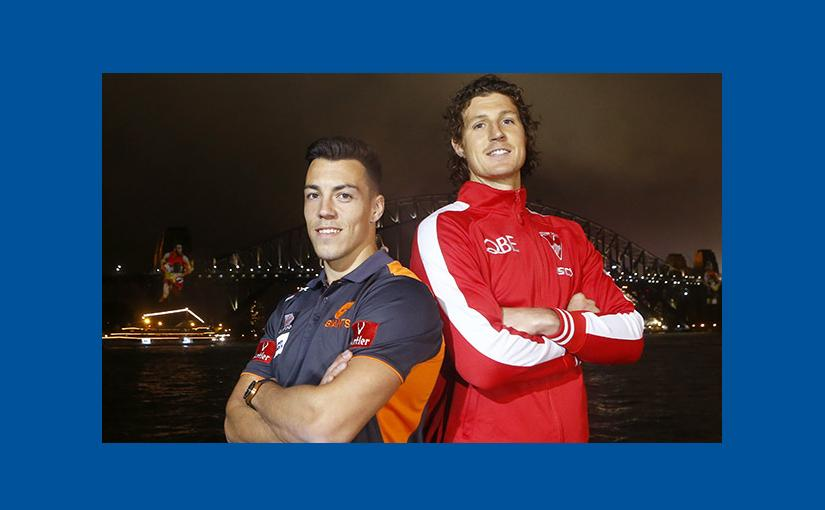 'Sydney Swans' & 'Greater Western Sydney Giants' Light Up Sydney Harbour Bridge