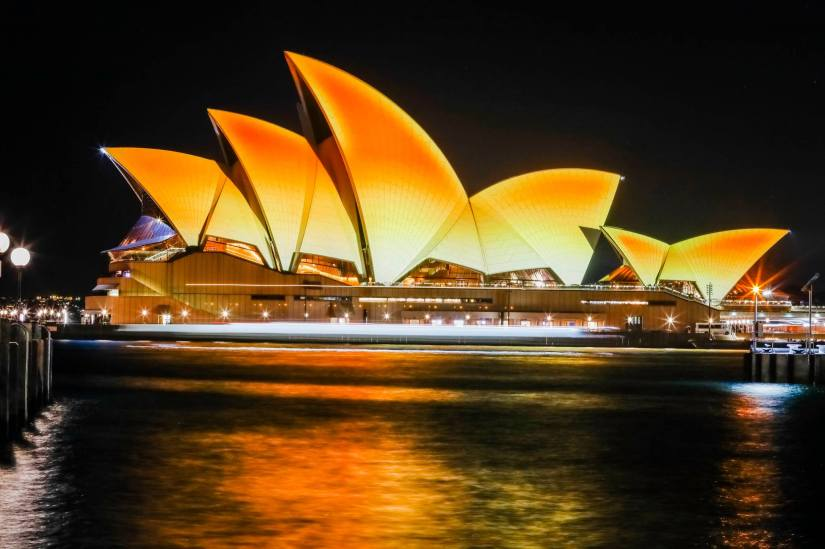 Opera House Turns Gold For Diwali