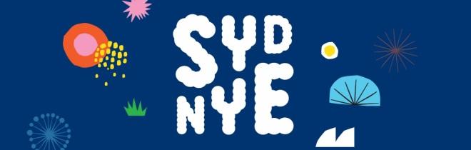 Shows this year's Sydney NYE artwork