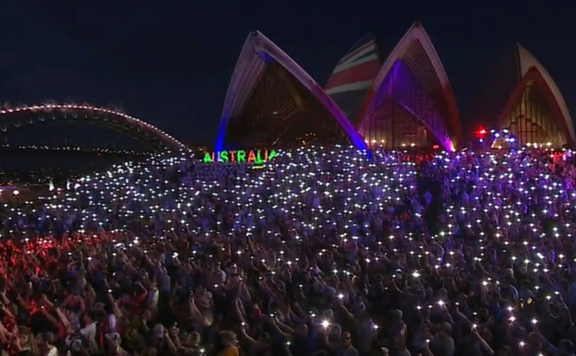 Poignant Bushfire Tribute Centre Stage Of Australia Day In Sydney's 1st Ever Sydney Opera House Projection Show & 1st Sydney Harbour Bridge Pyrotechnic Display Since 1988